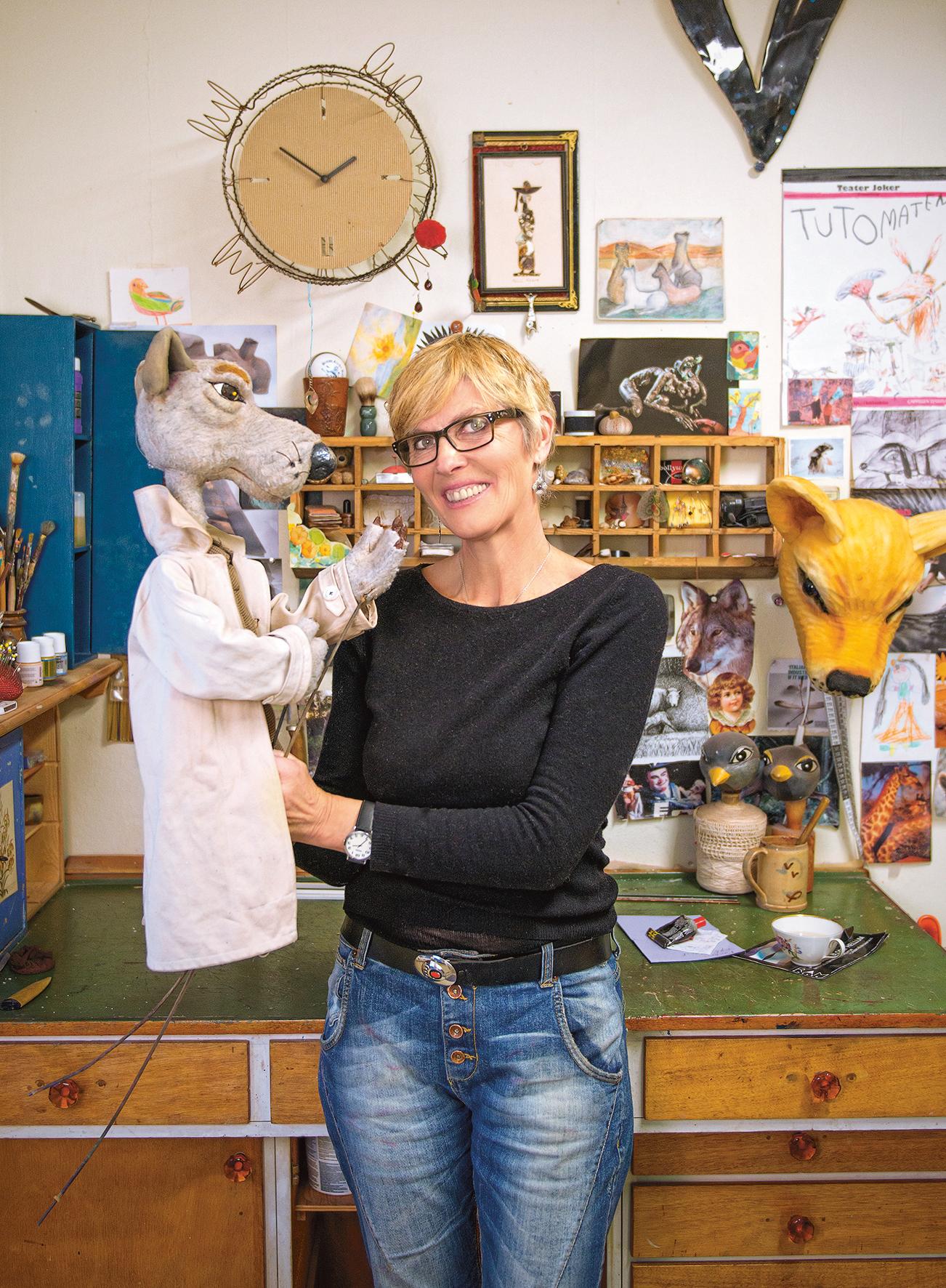 Dukkemaker Kari Noreger. Foto: Andreas Melgård.