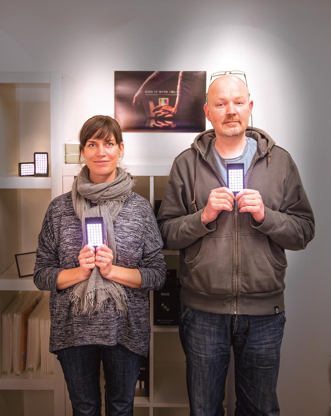 Marianne Braathen-Hals og Morten Hjerde i Rift Labs as