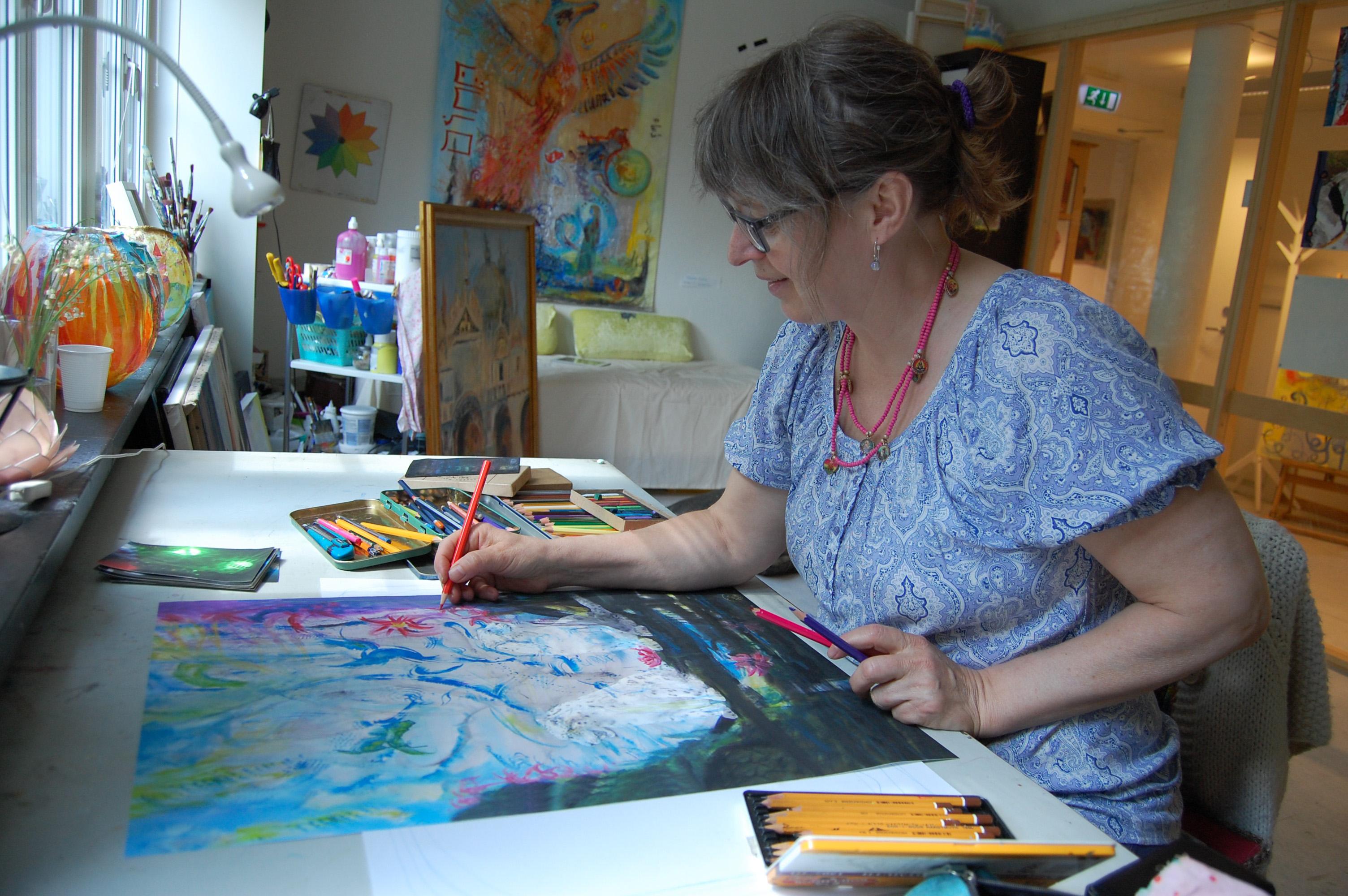 Ida Marie Simers i Atelier IMS i Nesoddparken. Foto: MMJ