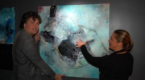 Bubbletalk med malerier av Vibeke Lunel og musikk av Filip Sande. Foto: mmj