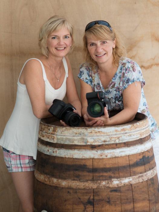 Tone Haugerud og Solveig Grande samarbeider om fotokurs og fotoreiser.